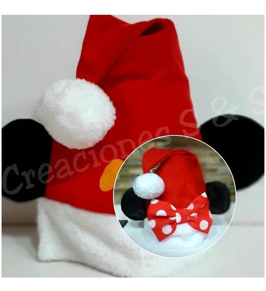 Gorros De Navidad Mickey Y Minnie Mouse