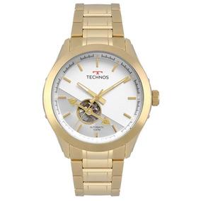 Relógio Technos Masculino Ref: 82s0ad/4b Automático Dourado