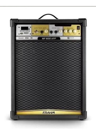 Caixa Sim Frahm Amplificada Ativa 500w Rms Mf 600 App Bivolt