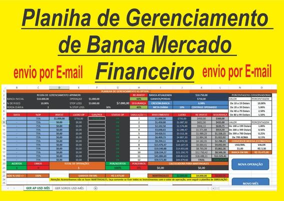 Planilha De Gerenciamento De Banca Mercado Financeiro