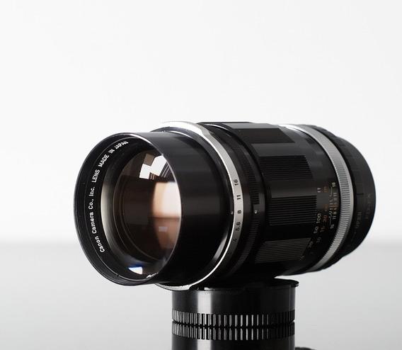 Lente Canon Fl 135mm F 2.5 Com Adaptador Sony E-mount\nex