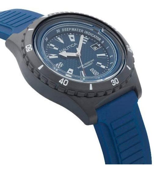 Relógio Nautica Masculino Borracha Azul Napibz008 - Vivara