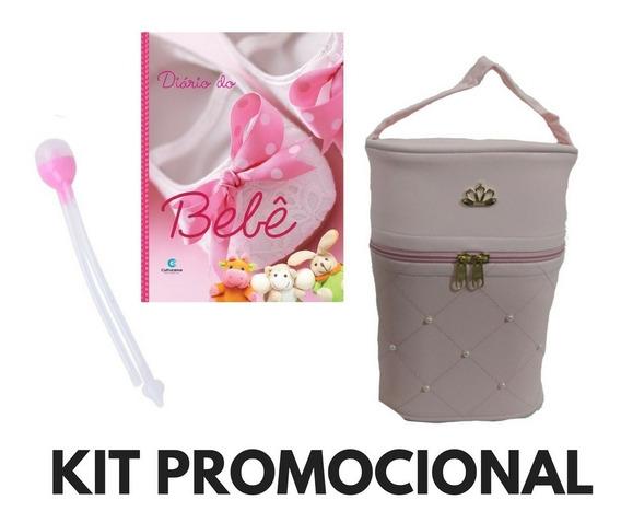 Kit Promoção Aspirador Nasal+diário Bebê+p. Mamadeira Menina
