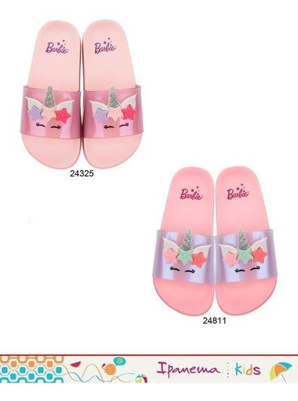 Chinelo Barbie Slide Glamour Infantil