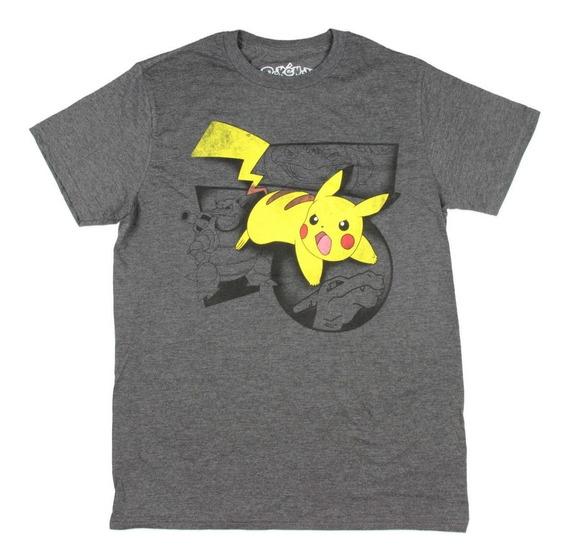 Remera Pikachu Pokemon Original Talle M Importada Nueva!