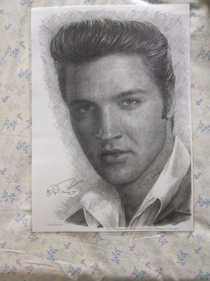 Pintura Limitada Elvis Presley - Artista Jonathan Wood