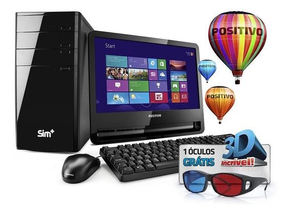 Computador 3d Positivo Core I3 2gb Ram Hd 500 Win8 Monitor 1