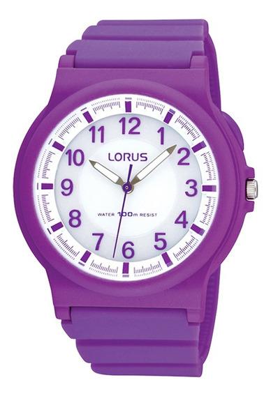 Reloj Lorus R2373fx9 Para Dama Correa De Caucho