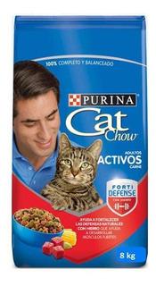 Cat Chow Adultos Activos Carne 8 Kilo - kg a $12500