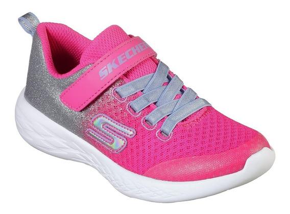 Tenis Skechers Go Run Rosa Brillos Deportivo Caminar Niñas