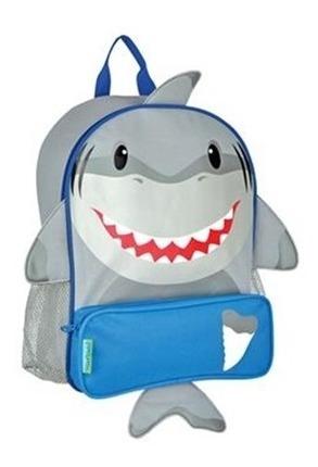 Mochila Escolar Stephen Joseph Tubarão Cinza