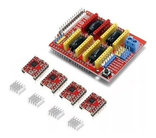 Kit Cnc Shield V3 + 4 Driver A4988