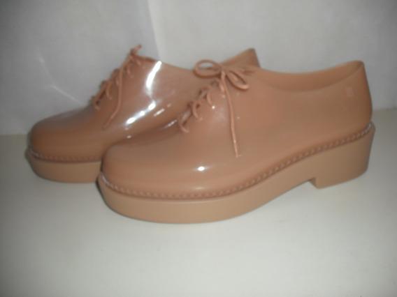 Sapato Tenis Melissa Grunge 38 Marrom Usado Bom Estado