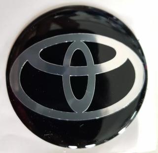 Kit X4 Logo Adhesivo Toyota Centro De Llanta 55mm - Amato