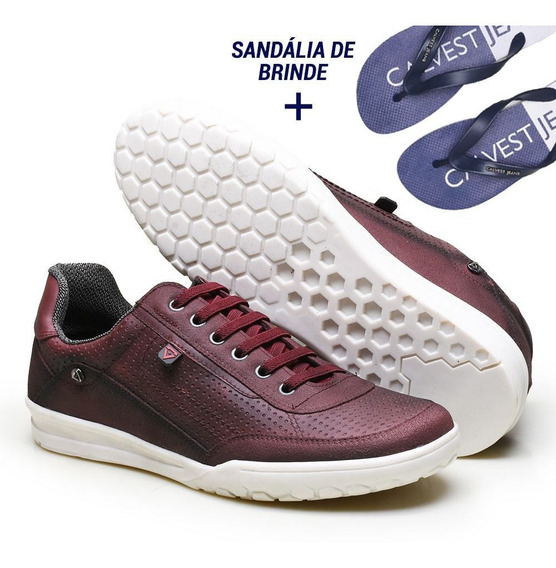 Kit Sapatênis Masculino Calvest E Chinelo Exclusivo