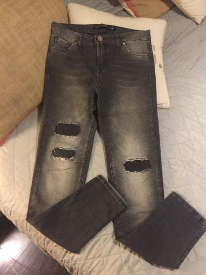 Jeans Gastado Materia Recto