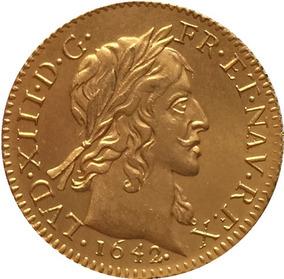 Moeda De Ouro França Luis Xiii 1642 24 K
