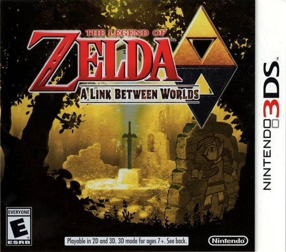The Legend Of Zelda A Link Between Worlds - 3ds Novo Lacrado