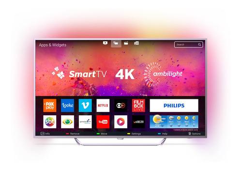 Imagem 1 de 4 de Smart Tv Philips65pug6412/78 Prata 65''
