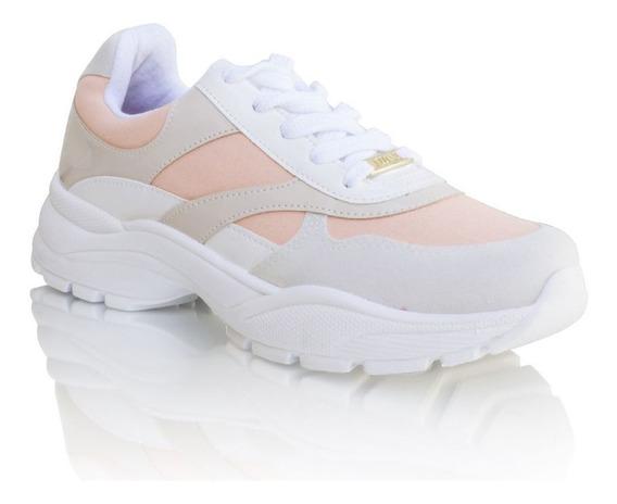 Tênis Sneaker Feminino Vizzano Rosa Cinza Nude 1331.103