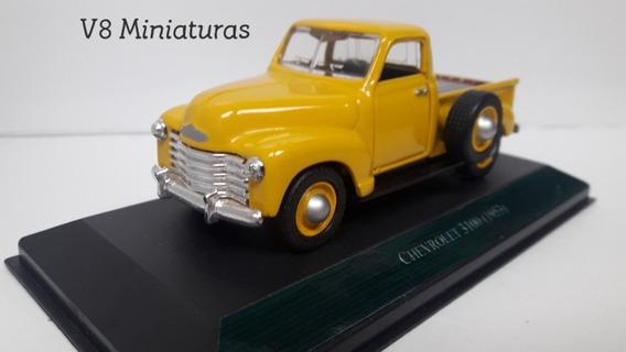 Miniatura Chevrolet 3100 1953 Customizada Pela V8 Miniaturas