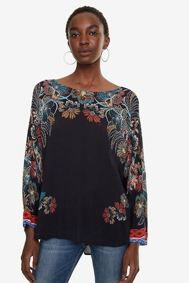 Blusa Dama Textil Negro Desigual