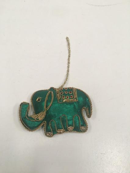 Adorno Colgante Elefante Tipo Hindú Bordado Con Dorado