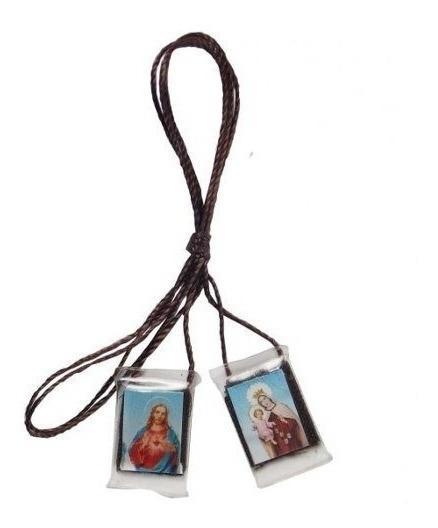 12 Unidades Escapulário Nossa Senhora Do Carmo Acrílico
