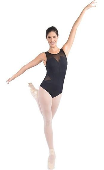 Collant Com Recortes Em Tule Ref. Cl 47 Capezio Para Ballet