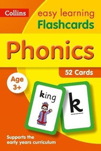 Collins Easy Learning - Phonics Flashcards - Age 3+