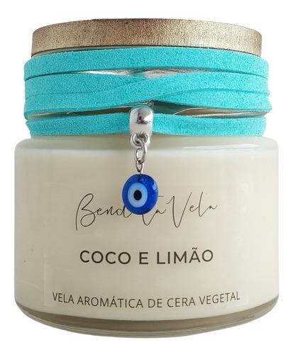 Vela Aromática Vegetal Coco E Limão  - Bendita Vela - Full