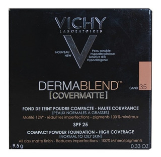 Polvo Compacto Vichy Dermablend Cover Matte Sand 35 X 9,5 Gr