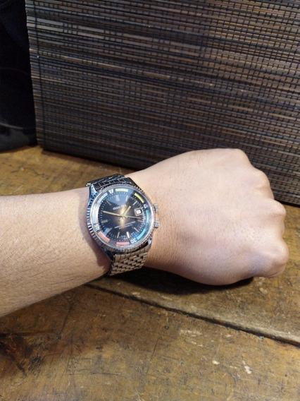 Reloj De Cuerda Grand Prix Fórmula 1 Años 60 Gran Tamaño