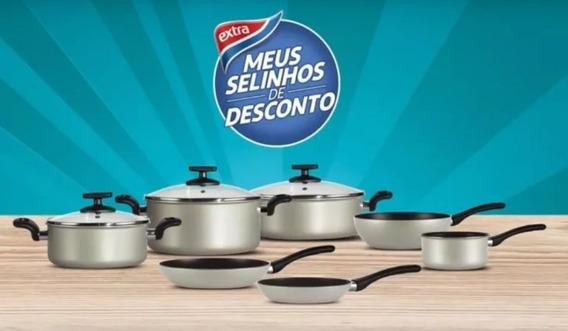 Kit Com 7 Panelas Em Aluminio Revestida Em Teflon Vkb, Ultimas Peças, Compre Ja A Sua.