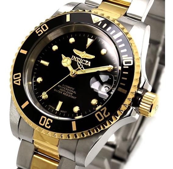 Relógio Invicta Pro 8927ob Original Prata Ouro