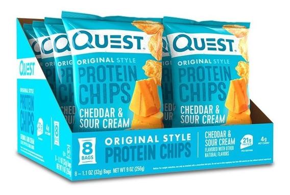 Chips De Proteína Quest Sabor Crema Y Queso Cheddar