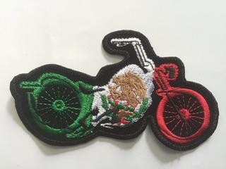 Parche Moto Bandera De Mexico Motocicleta