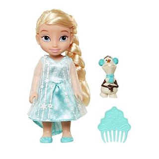 Disney Princess Frozen Petite Elsa Doll Con Olaf Figure 6 Pu