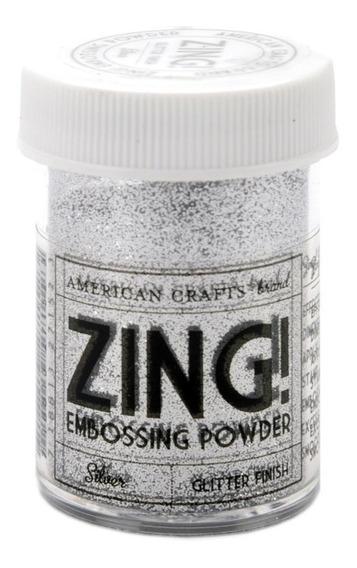Polvo Para Embossing Glitter Plateado Zing!