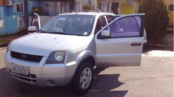 Carro Barbada Ecosporte 2.0 2005 Completa Cor Prata 5porta