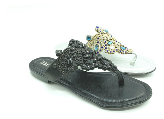 Chatitas Ojotitas Strass Mujer Zapato Calzado Art 83