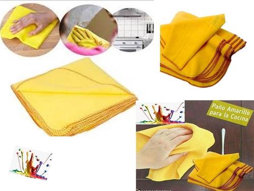 Paños  Amarillos Excelente Calidad 50 *50. ( 9 Unidades ).