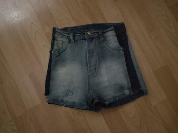 Shorts Jeans Celeste Roto