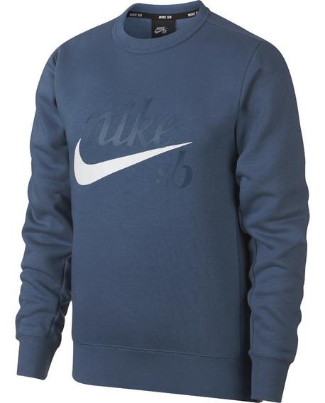 Buzo Nike Sb Icon Craft Negro Azul Cuello Redondo Original