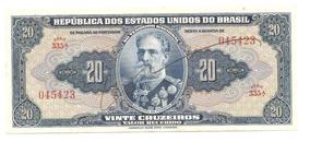 C021 - Cédula 20 Cruzeiros - Autografada - 1943 (sob)