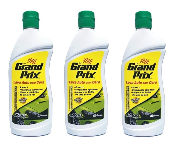 Kit Lava Auto Grand Prix Com Cera 200ml 3 Unidades