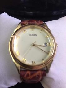 Relógio Marca Guess Original Japão Pulseira De Couro