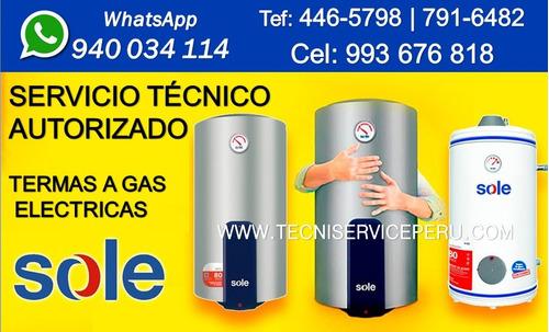 Servicio Técnico De Termas Sole Reparación Termas A Gas