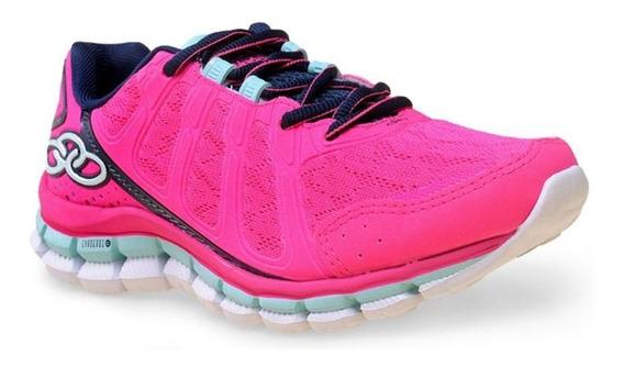 Tênis Sapato Training Feminino Olympikus Diffuse - Marinho/pink - N°38