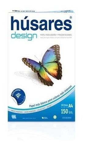 Resma Husares Design A4 150 Grs X 100 Hj